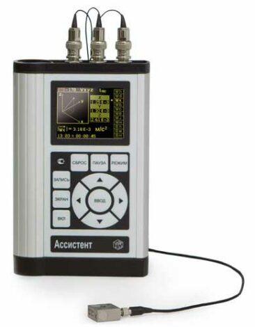 Поверка виброметра, анализатора спектра АССИСТЕНТ V3
