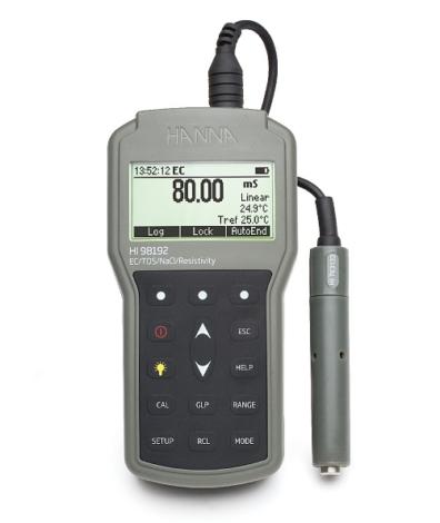 Поверка кондуктометра/TDS/NaCl-метра HI98192