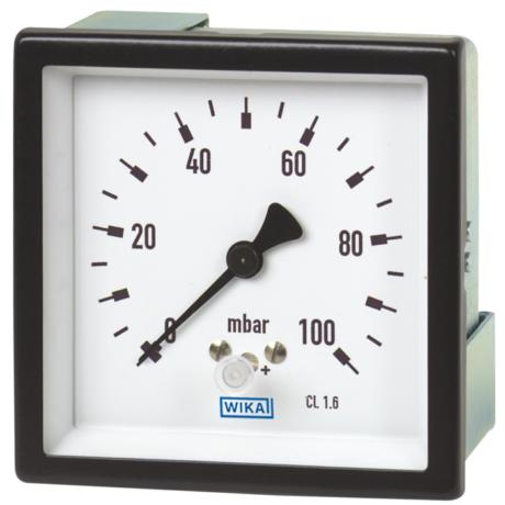 Поверка манометров с мембранной коробкой, для низких диапазонов давления модели 614.11, 634.11