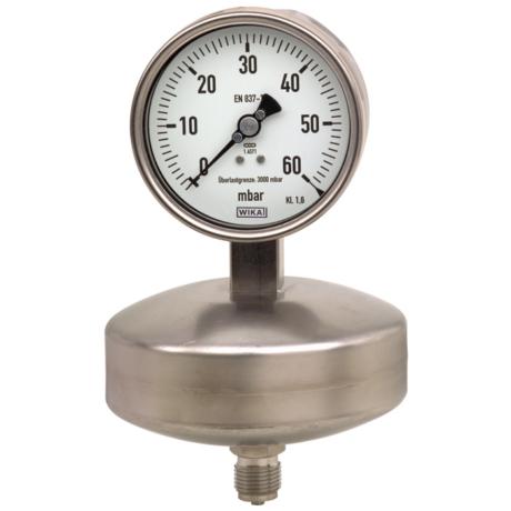 Поверка манометров с мембранной коробкой, для низких диапазонов давления модель 632.51