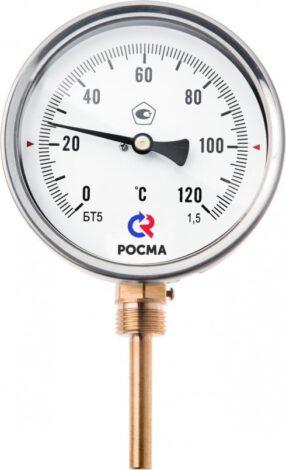 Поверка термометров общетехнического (радиальное присоединение) Тип БТ, серия 211