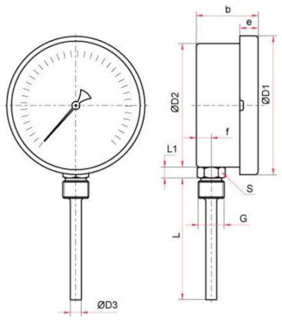 термометры биметаллические специальных (с пружиной) Тип БТ, серия 220 поверка