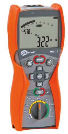 Поверка измерителя параметров электроизоляции MIC-10